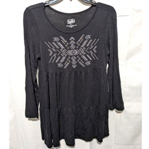JUSTICE Black Tiered Studded Sparkle Tunic 16